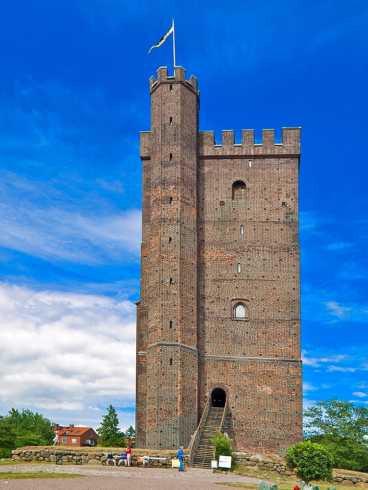Karnen, defensive fortification, 35 metres high, landmark of the city of Helsingborg, Helsingborg Municipality, Skane County, Scania, Sweden, Europe