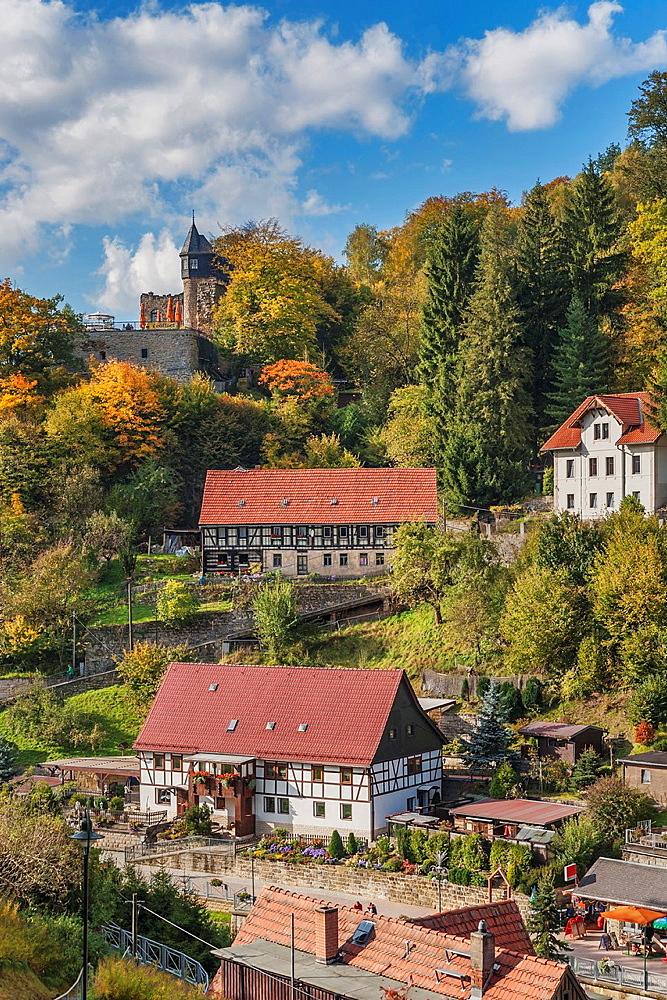 Lower Rathen Niederrathen is a part of the health resort Rathen in the national park Saxon Switzerland, near Dresden, Saxony, Germany, Europe