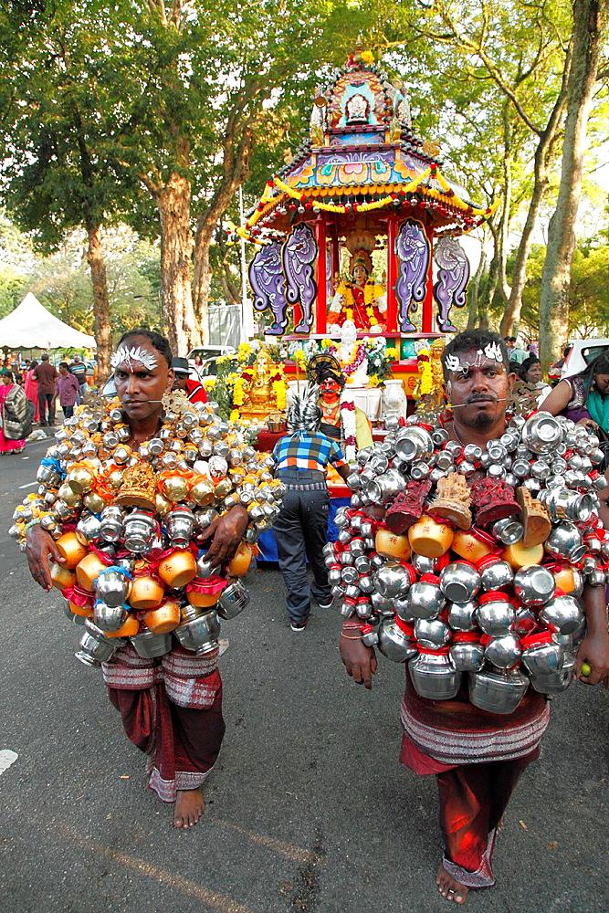 Malaysia, Penang, Thaipusam, Hindu, festival, people,