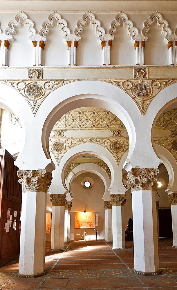 Santa Maria la Blanca synagogue, Toledo, Castilla-La Mancha, Spain