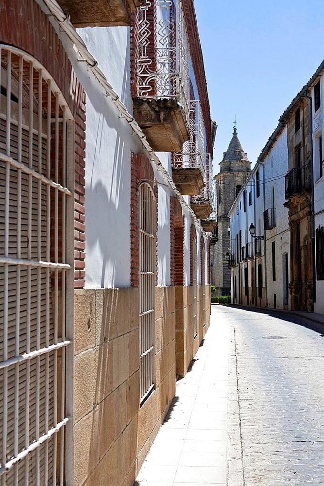 Mid afternoon in Street of Sabiote, Jaen, Spain