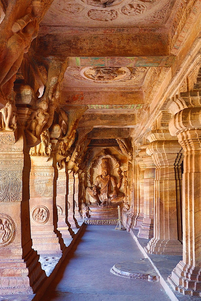 India, Karnataka State, Badami City, Badami Caves, Third cave