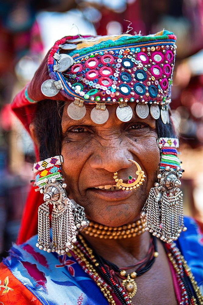 India, Goa State,Anjuna Flee Market, Local woman