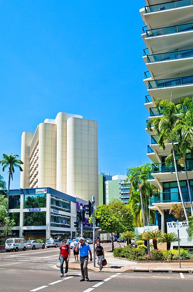 Australia, Northern Territory, Darwin, modern Mitchell Street highrise.