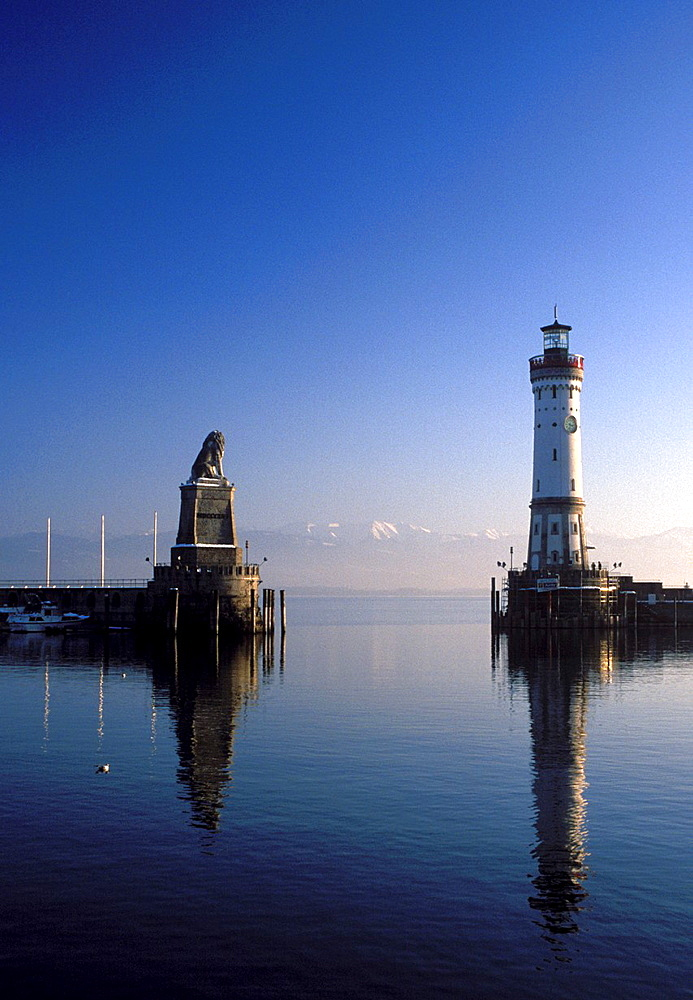 The Port of Lindau, Lake Constance