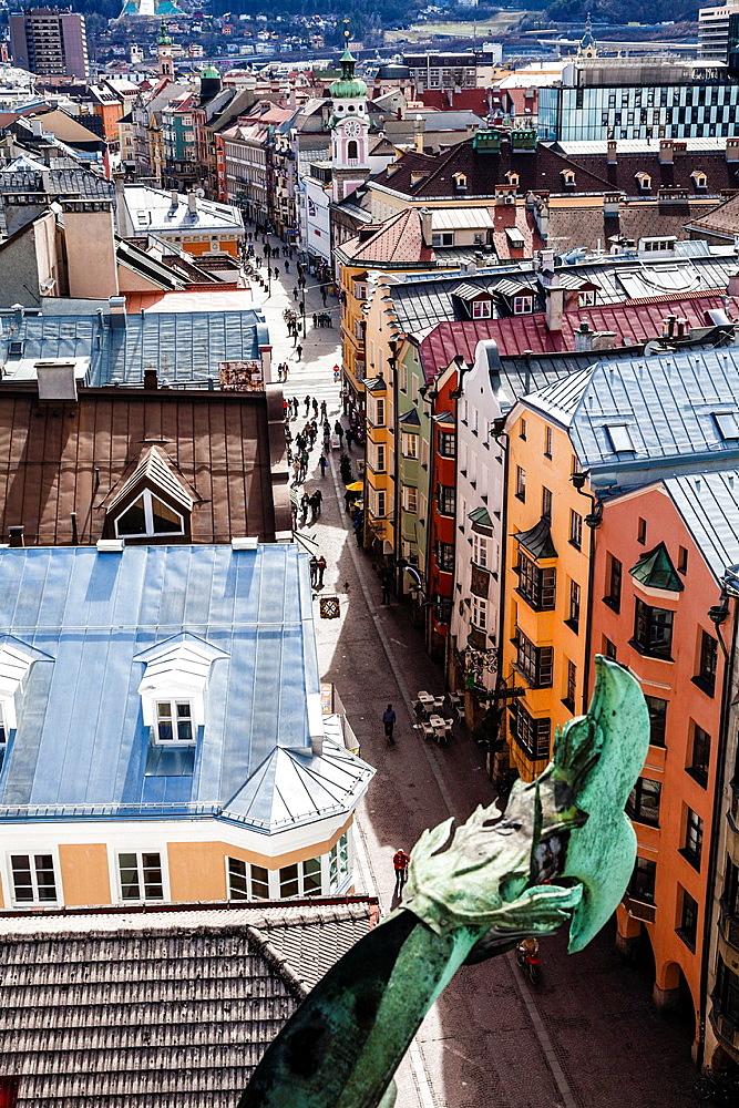 Panoramic of Innsbruck, Tyrol, Austria, Europe.