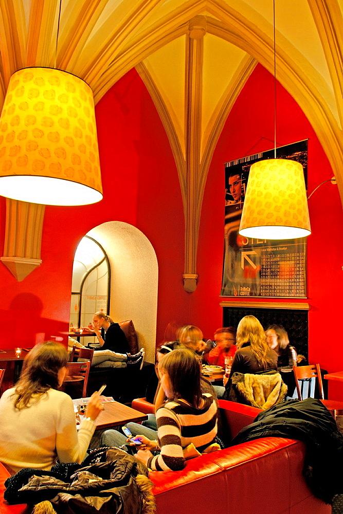 Tribeca cafe, Rynek Glowny, Krakow, Poland, Central Europe