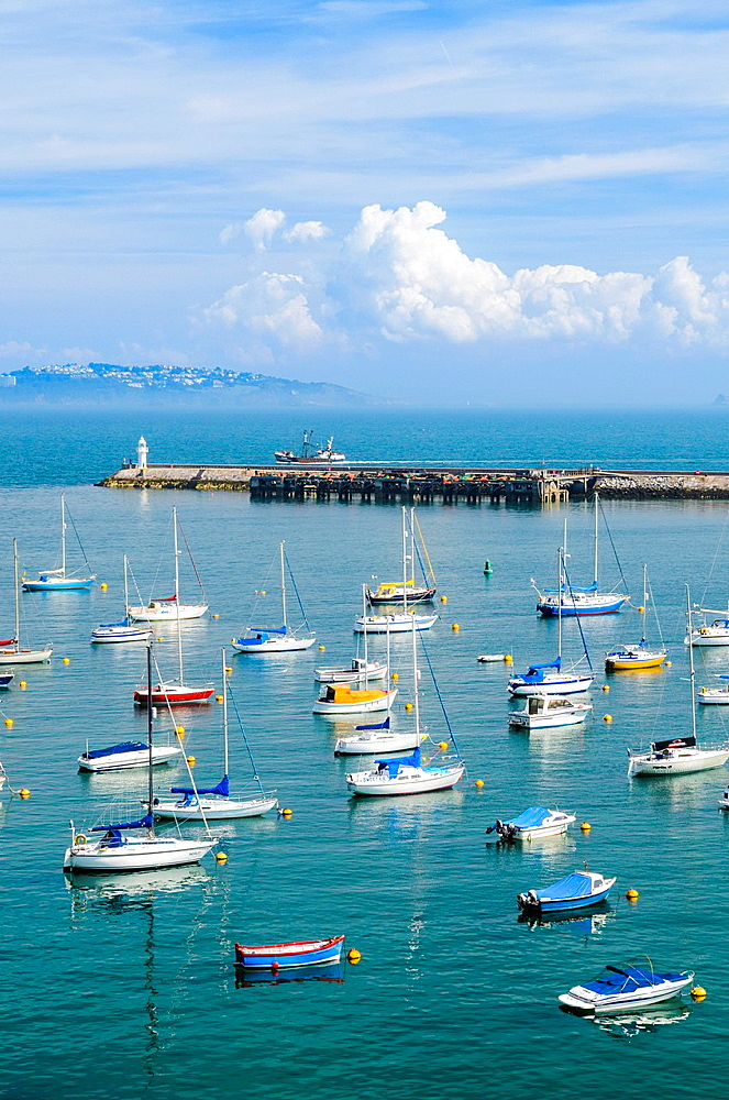 View over the marina at Brixham and Torbay, Devon, England.