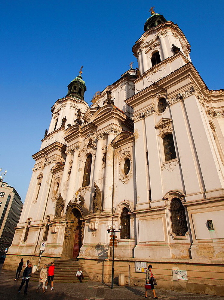 St Nicholas Church, Church of Sv Mikulas, Old Town Square, Staromestska namesti, Prague, Czech Republic.