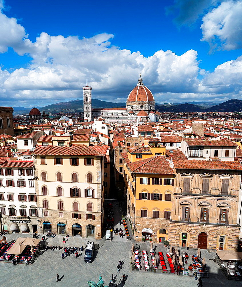 View of Florence with Cathedral (Basilica di Santa Maria del Fiore and Giotto tower).