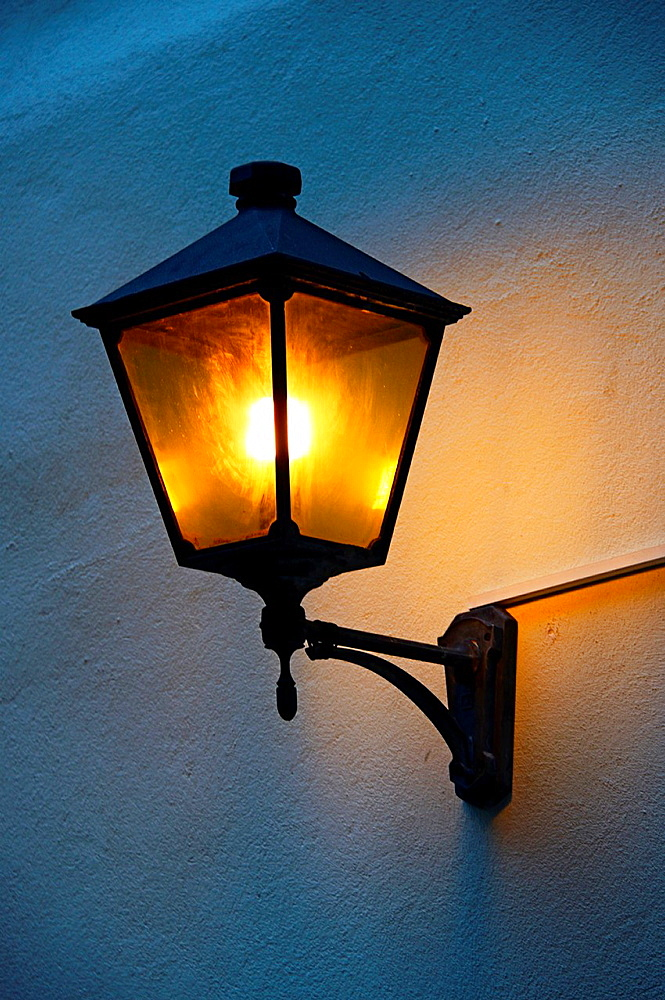 old style street lamp, old town of Geneva, Switzerland