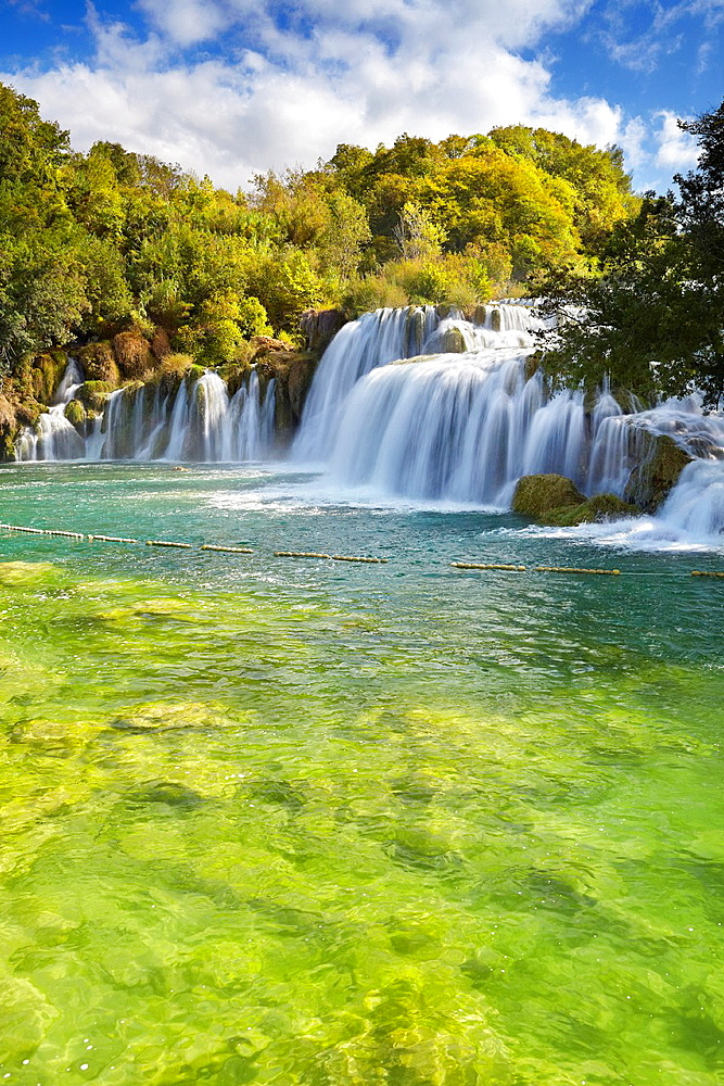 Croatia, Krka National Park, waterfall on the Krka River, Croatia.
