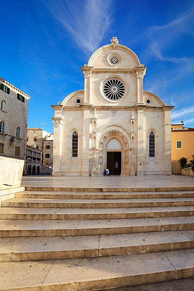 Croatia, Sibenik Old Town, gothic Cathedral of St.James, Dalmatia, Croatia, UNESCO.