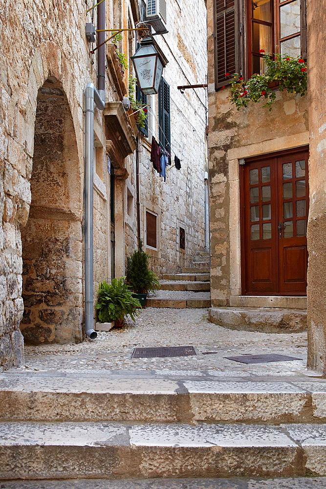 Croatia, Dubrovnik, Old Town street, Dalmatia, Croatia, UNESCO.