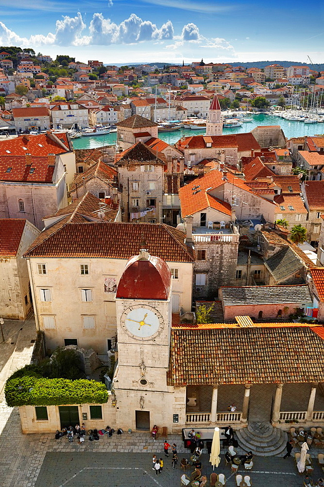 Croatia, Trogir, Old Town, Bell Tower, Dalmatia, Croatia, UNESCO.