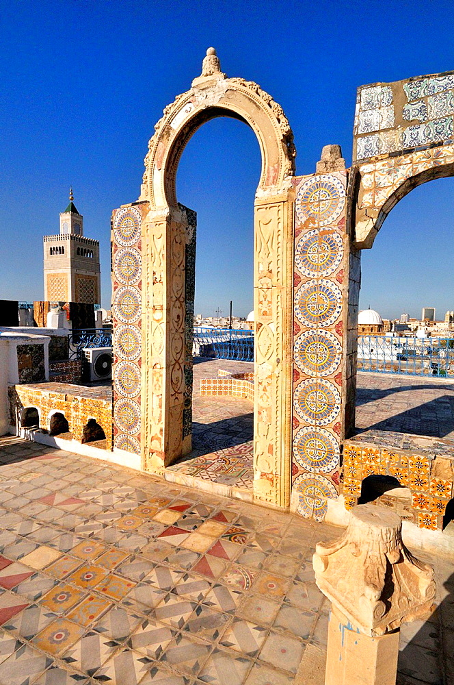 Tunis Medina. The Great Mosque. Tunisia.