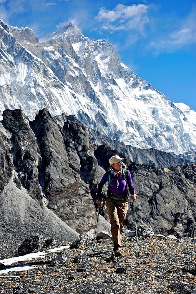 Female trekker, Chhukung, Nepal
