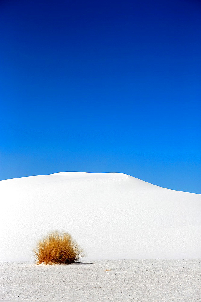 White sand dunes in White Sands National Monument. Alamogordo. New Mexico. USA