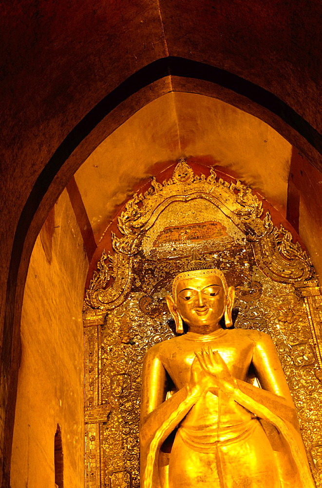 Konagamana Buddha at Ananda Temple in Bagan