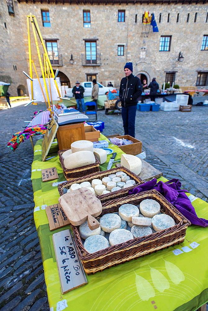 Mediaeval village of Ainsa during 2013 Ferieta Celebration, Sobrarbe-Huesca, Aragon Pyrenees, Spain.