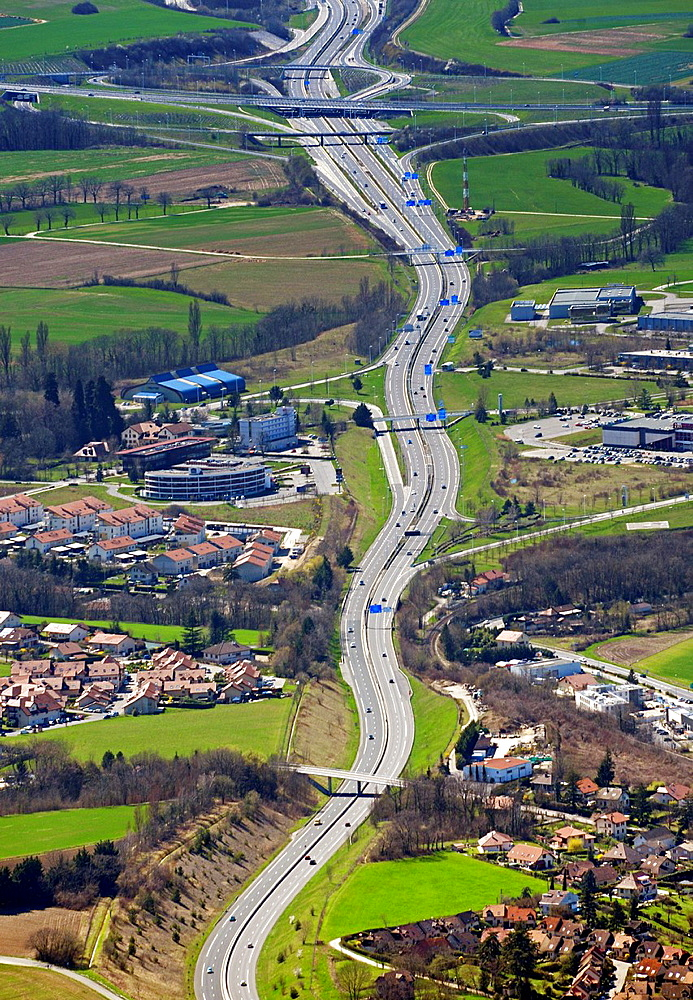 A41 Highway seen from Mont Saleve, France