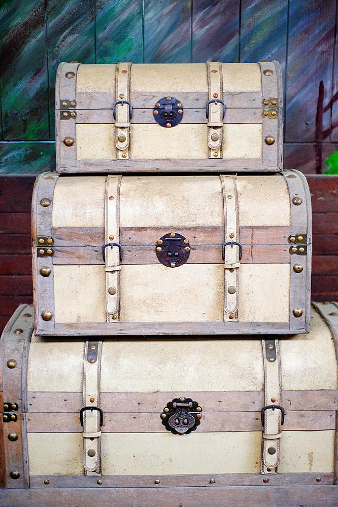 old travel trunks