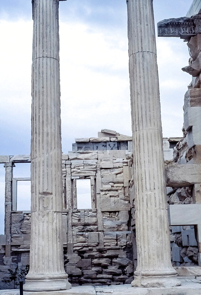 columns of the Temple of Trajan, Pergamon, Turkey.