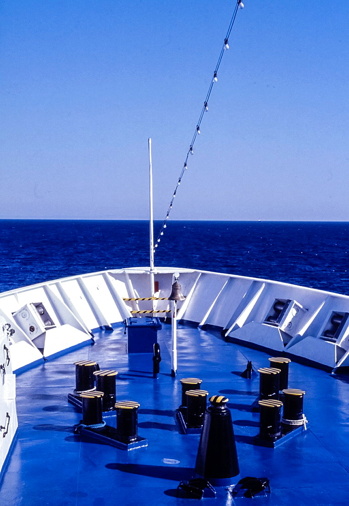 Bow of the ship, Marmara line, Ancona to Cesme