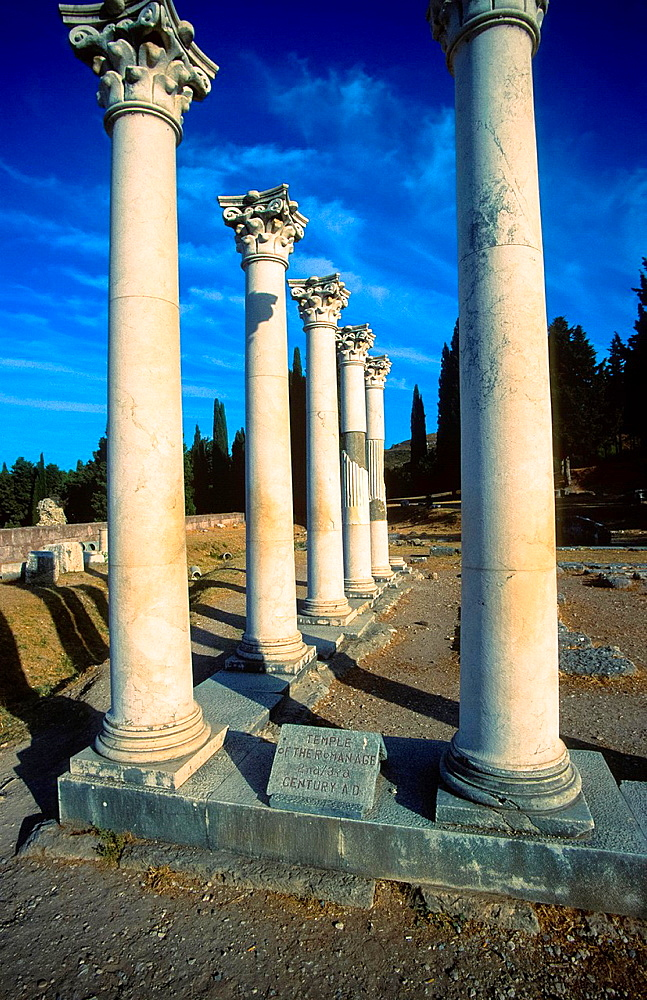 Old Pillars From Romanttemple At Kos Island, Greece