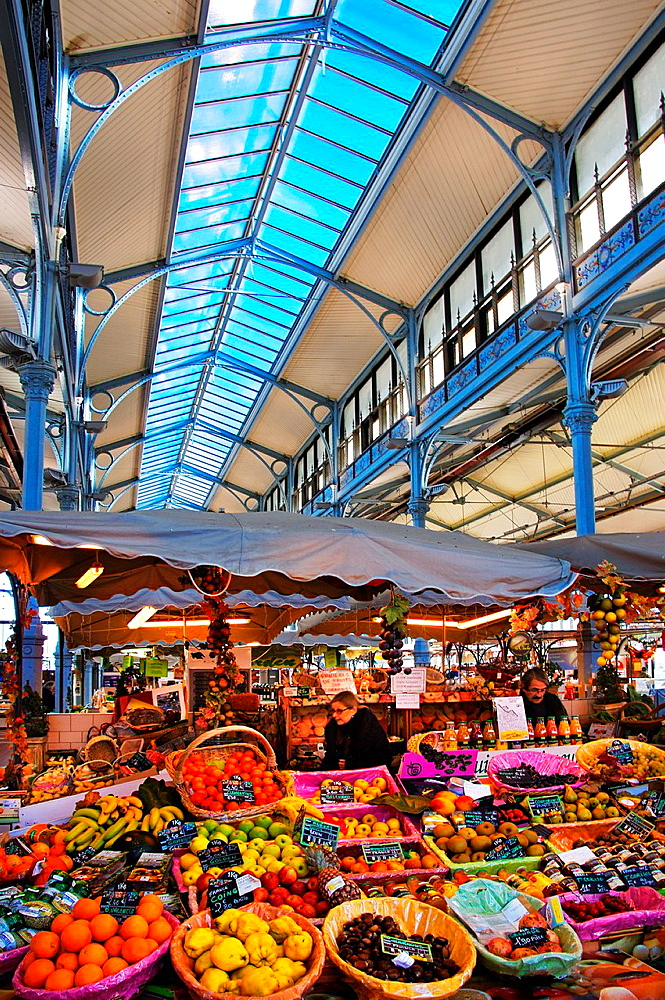 Les Halles' (19th century), the main market at Angouleme, Charente, Poitou-Charentes, France