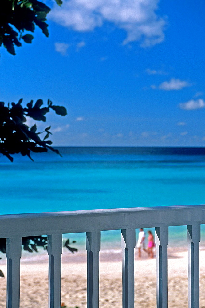Barbados, Balcony View, Beach, Caribbean Sea.