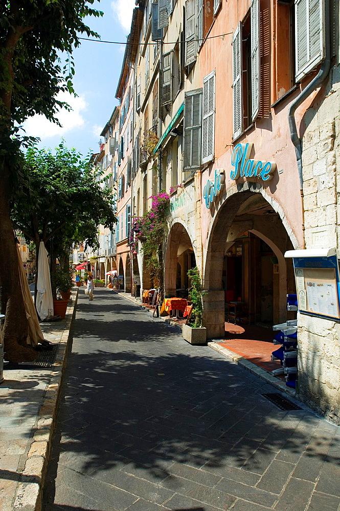 Lane, Grasse, Restaurant, Bistro, Cafe, Provence, France.