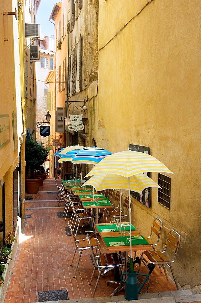 Lane, Grasse, Restaurant, Bistro, Provence, France.