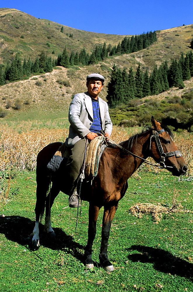 Kyrgyzstan, Mountains, Local Farmer.