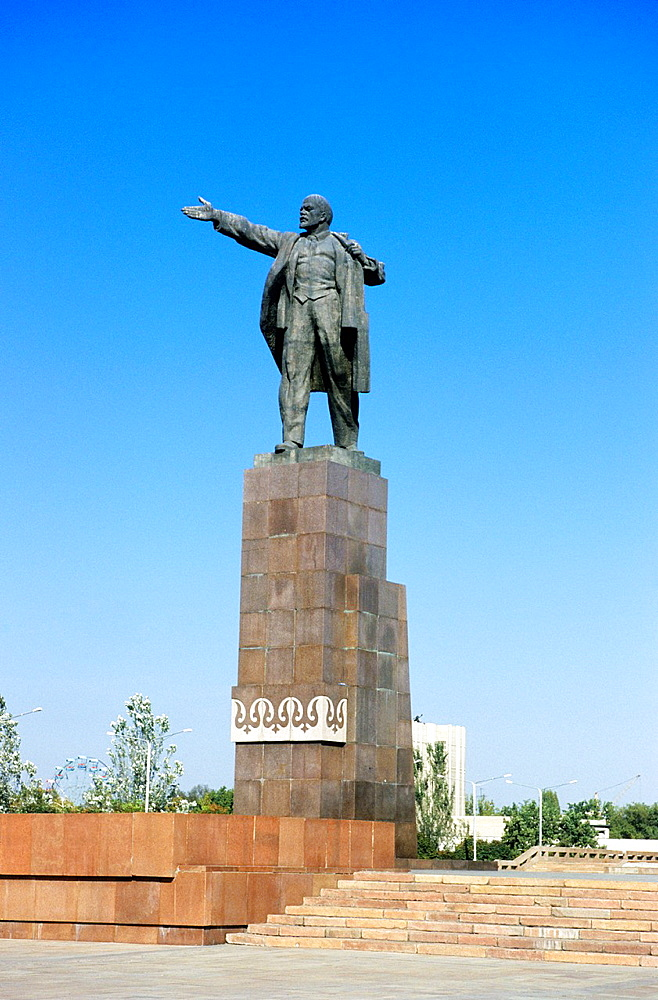 Statue of Lenin, Bishkek, Kyrgyzstan.