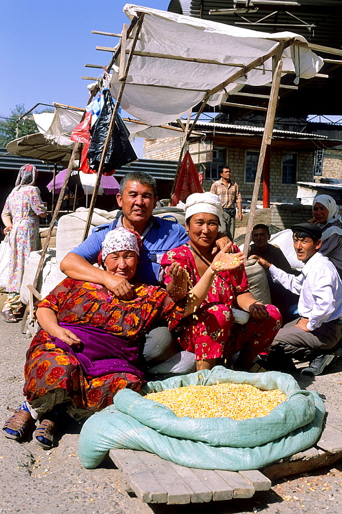 Osh, Big Market, Maize, Kyrgyzstan.