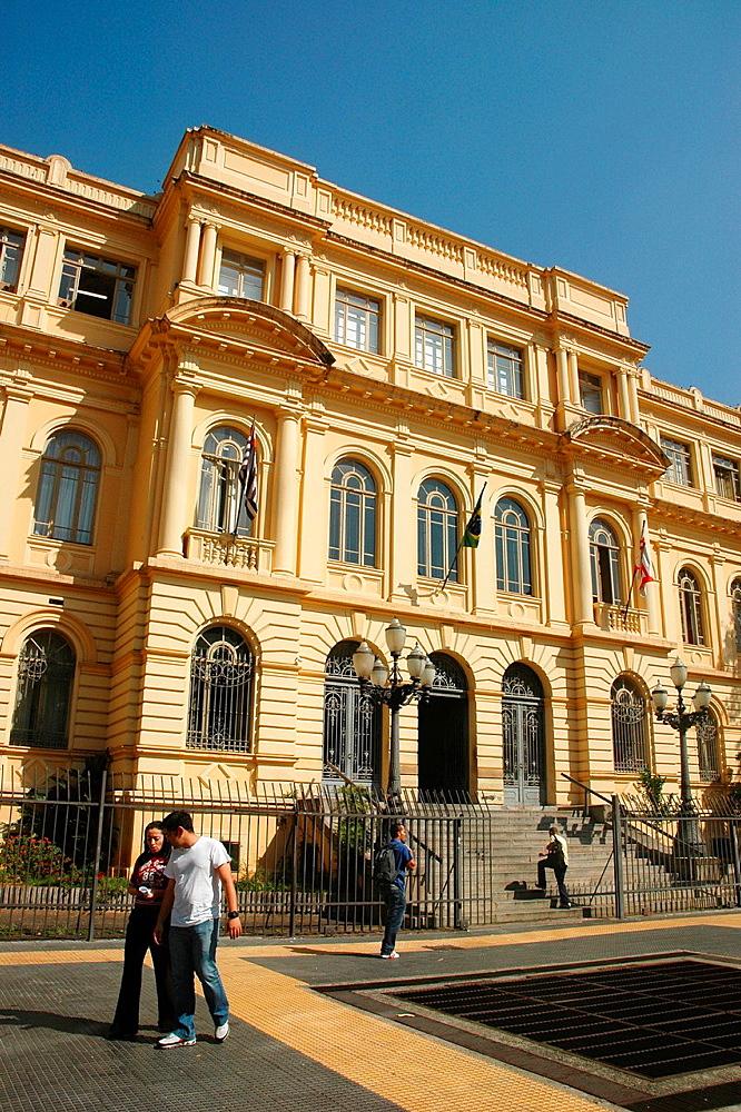 Sao Paulo, Brazil, Praca da Republica, Palacio Caetano de Campos