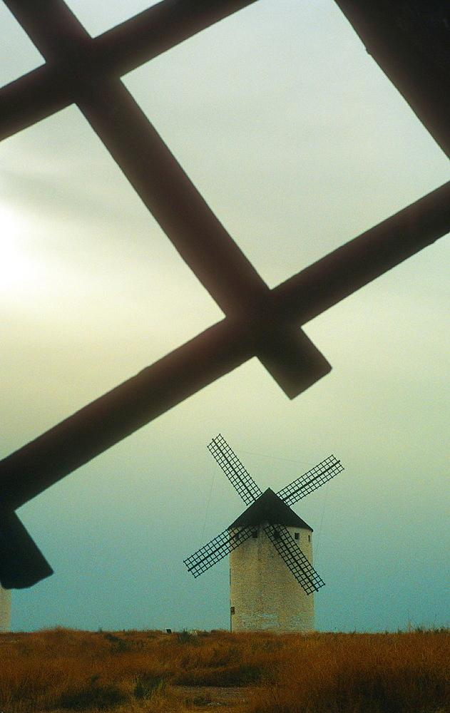 Windmills, Campo de Criptana, Ciudad Real province, Castilla-La Mancha,the route of Don Quixote, Spain.