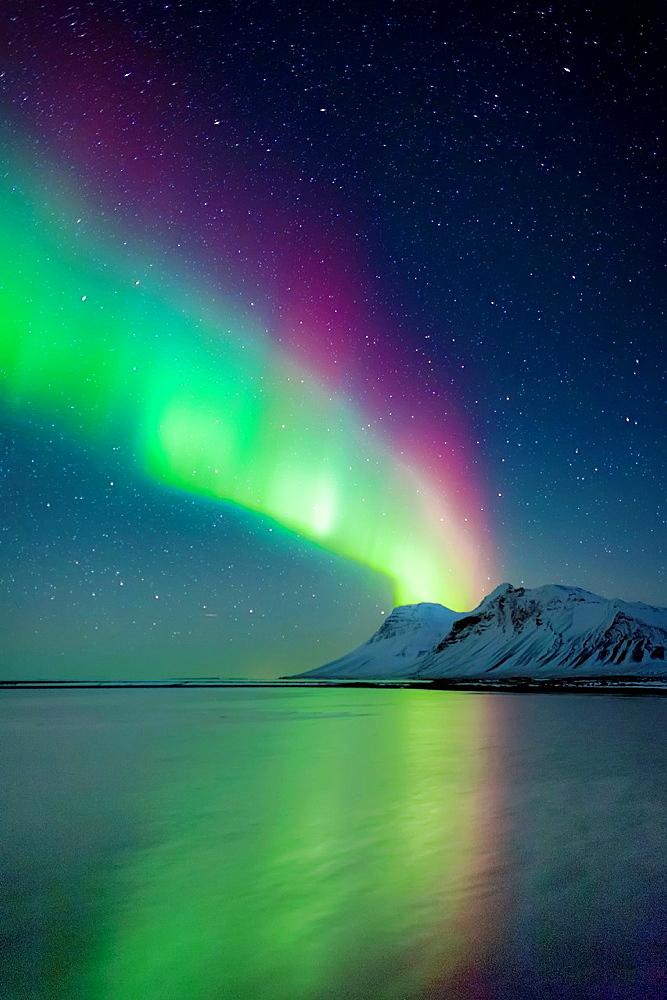 Aurora Borealis or Northern Lights, Iceland.