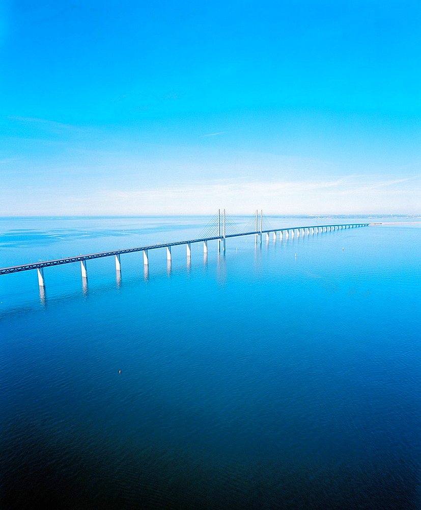 Oresund Bridge from Denmark to Sweden, Europe