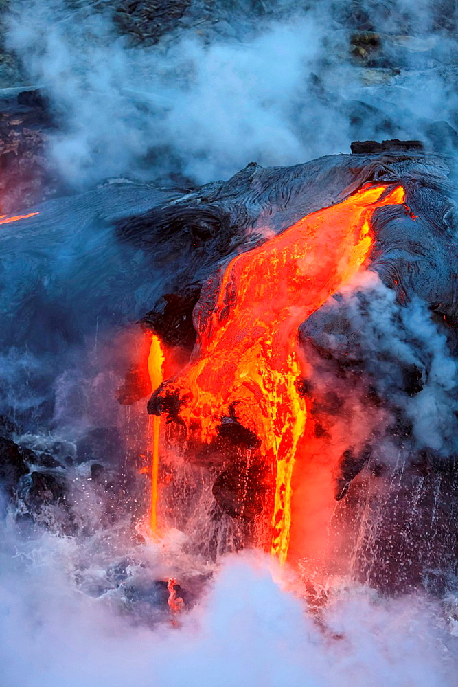 Kilauea Lava Flow, Kalapana, Big Island, Hawaii, USA
