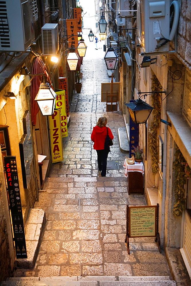 Narrow street. Dubrovnik. Croatia.