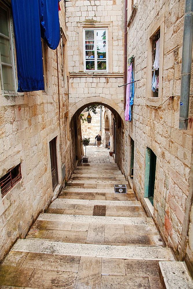 Old streets. Dubrovnik. Croatia.