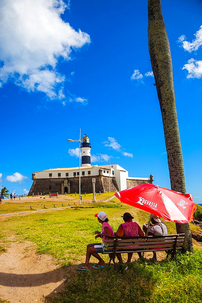 Farol da Barra lighthouse, Salvador, Bahia, Brazil