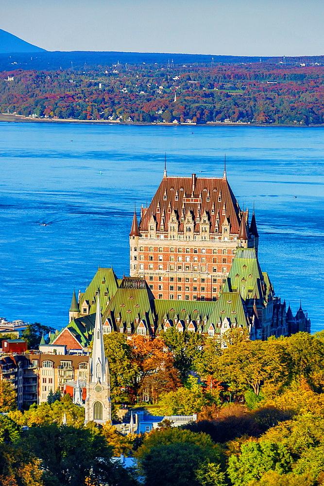 Canada , Quebec City,Old Quebec , Fontenac Castle.