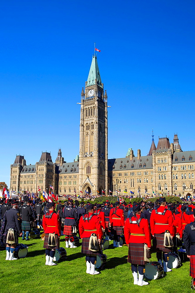 Canada , Ottawa City , Parliament Hill Center Block, Ceremony,.