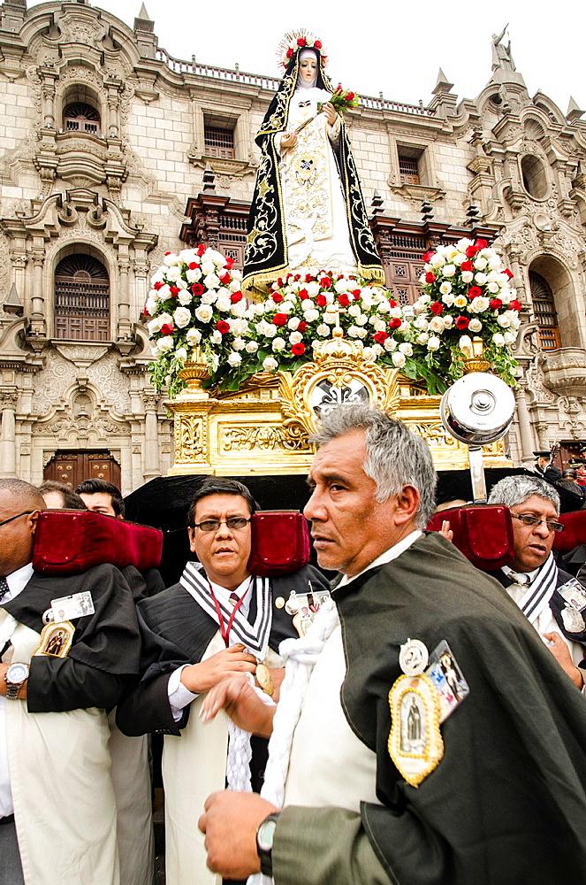 Procession of Santa Rosa de Lima. Lima, Peru.