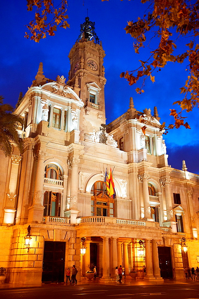 Ayuntamiento. City hall. Valencia. Comunidad Valenciana. Spain.