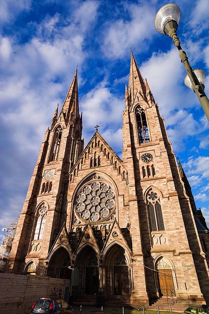 St Paul protestant church Strasbourg Alsace France.