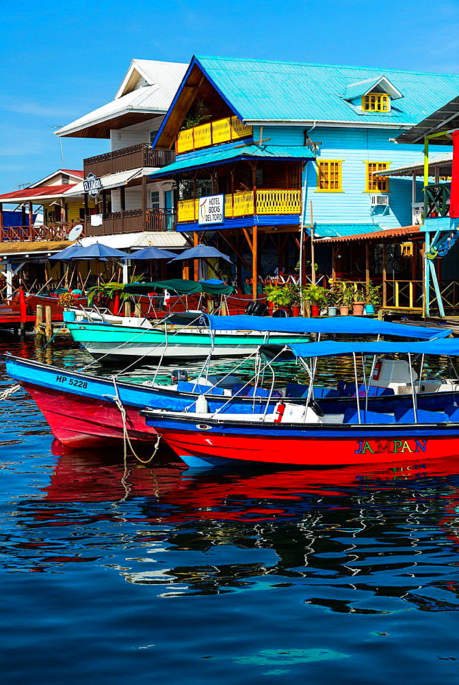 Bocas del Toro Town, Colon Island, Bocas del Toro Archipelago, Bocas del Toro Province, Panama, Central America, America